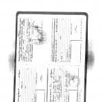 P7b - Extrait de l'acte de naissance et décès d'Eliane Kabile